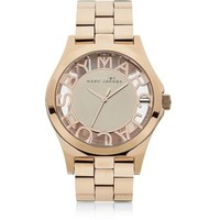 Marc by Marc Jacobs Henry Skeleton Rose Gold Watch