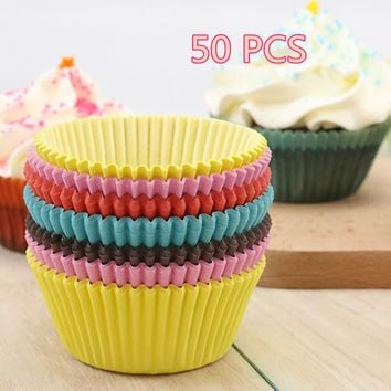 50 x Paper Cake Cup Cupcake Cases Liners Muffin Kitchen Baking Wedding Party
