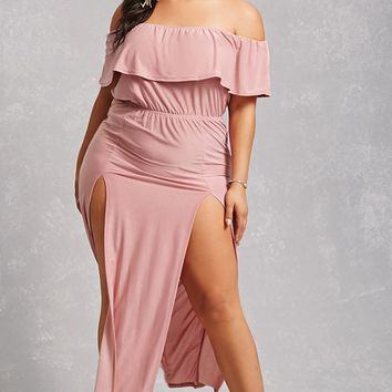 Plus Size Maxi M-Slit Dress