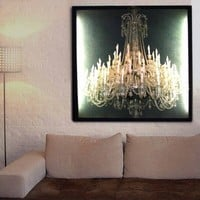 Duffy London grand Chandelier black Glo-canvas by Couture Deco