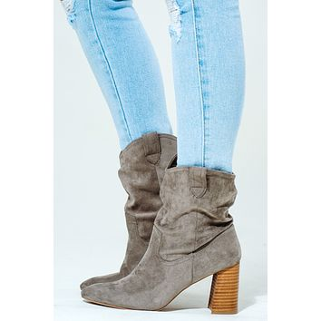 Girl On The Go Booties: Taupe