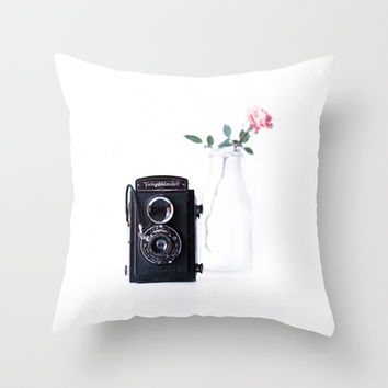 vintage rose Throw Pillow by ingz