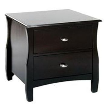 Milano Transitional Style Espresso Finish Nightstand - Sears