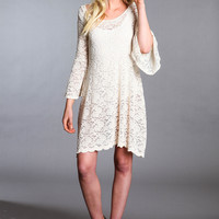 BELL SLEEVES LACE DRESS