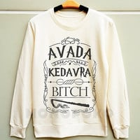S M L -- Magic Spell Avada Kedavra Shirts Harry Potter Sweatshirt Jumpers Long Sleeve Tee Sweater Unisex TShirts Women TShirts Men TShirts