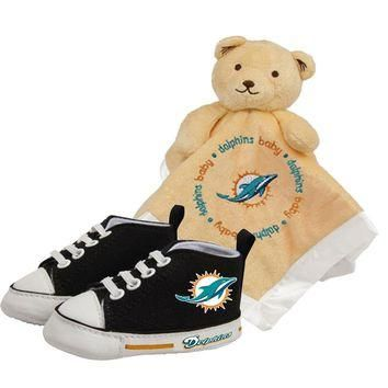 Miami Dolphins NFL Infant Blanket and Shoe Set