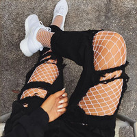 Sexy Mesh Fishnet Pantyhose 2017 Spring Summer White Black Slim Fishnet Tights Stockings Party Club Hosiery