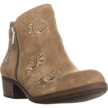 Lucky Brand Basel5 Side-Zip Ankle Booties, Sesame, 7 US / 37 EU