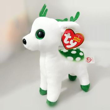 6'' 15cm Ty Beanie Boos Collection Peppermint Tinsel Sika Deer Big Eyes Plush Toys Stuffed Animals Soft Toys Buddly Toys S204