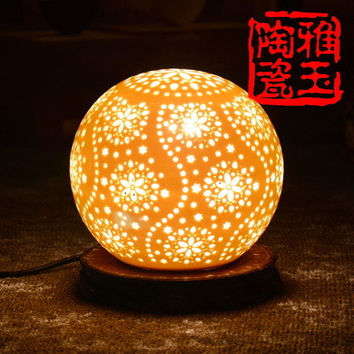 LED Antique Table Lamp Beautiful Night Light Stars Light Room Lamp Table Bedroom Hotel Colorful Lamp