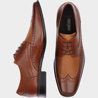 Stacy Adams Whitby Brown and Tan Wingtip Shoes - Dress Shoes | Men's Wearhouse