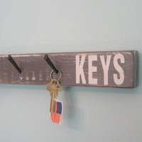 MoViNG SaLE...KeY HooK HoLDeR hat jewelry...gray white ...  by Wreckd on Etsy ... one of a kind...ready to ship