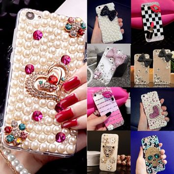 Soft Edge Acrylic mobile phone shell fashion Bling Diamond Luxury Glitter DIY Cute Case Cover For Samsung grand prime G530 G5308