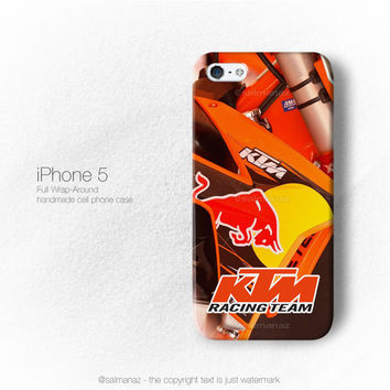 KTM Racing Team Motocross Ama MX Champion Motorcycle iPhone 3, 4, 5, 6 Case cover