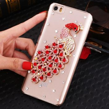 Bling Peacock Diamond Pattern Cell Phone Case