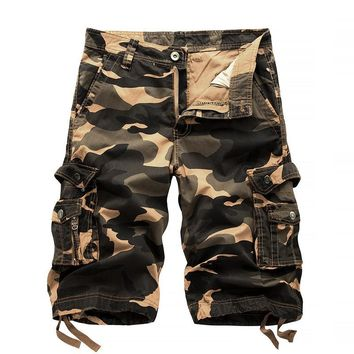 Summer Tactical Military Camo Shorts Men Camouflage Cargo Shorts Casual Loose Cotton man Army Short Pants Brand Clothing 29