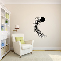 Ocean Jellyfish Vinyl Wall Decal Sticker Graphic