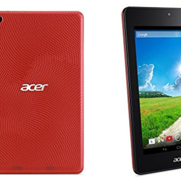 "Acer Iconia One 7"" Tablet 8GB Android Jelly Bean 4.2 - Red - B1-730HD-14S8 (Certified Refurbished)"