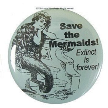 Funny Save the Mermaids Magnet-