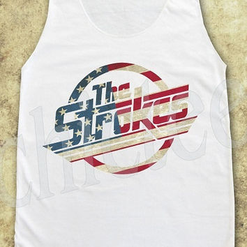 Size M -- The Strokes shirt rock shirts women tank top women t shirts tunic top women sleeveless singlet top men tank