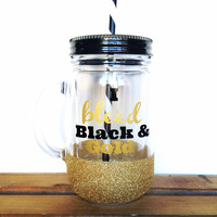 Personalized Tumbler - Mason Jar Tumbler - Football Tumbler, Sports Team Tumbler, Football Cup, Sports Team Cup, Glitter Tumbler