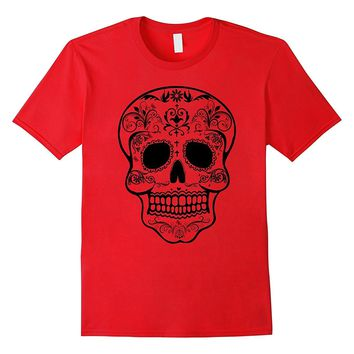 Sugar Skull Black & White T-shirt Day of the Dead Shirts