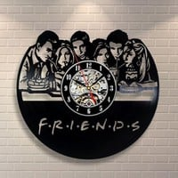 Friends Vinyl Record Wall Clock