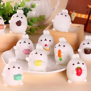 1pcs Cute cartoon home decoration rabbit home & garden Furnishing Articles Resin craft Children's toys gifts free shipping