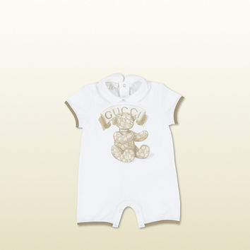 Gucci - baby sleep suit with gucci teddy print 316788X87359472