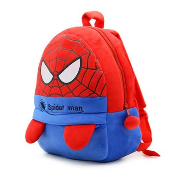 Baby Plush School Bag Children Plush Cartoon Spider man Backpack For Kindergarten Kids Boys spiderman Schoolbags Gift Toys