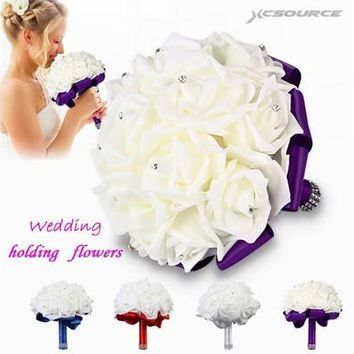 Artificial Bouquet of flowers wedding Bride wedding holding flowers Bridesmaid [7983318023]