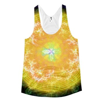 Flowering Explosion of Enlightenment || Women's racerback tank — Future Life Fashion