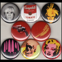 "8 Brand New 1"" ""Andy Warhol"" Button Set"