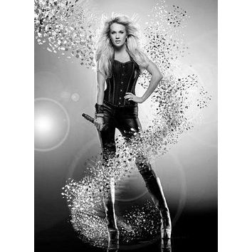 "Carrie Underwood Poster Black and White Poster 16""x24"""