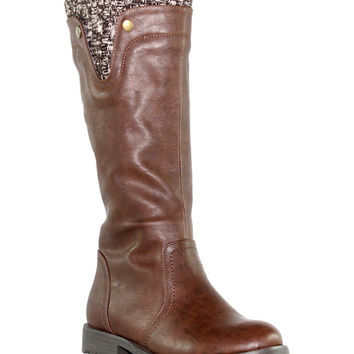 OLIVIA MILLER Brown Lenox Riding Boot | zulily