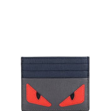 Monster-Print Leather Card Case - Fendi