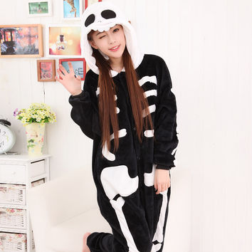 Cartoons Sleepwear Winter Couple Animal Home Set Halloween Costume [9221226628]