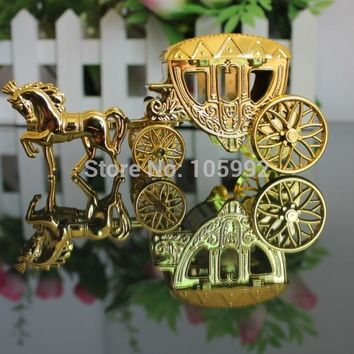 pcs    quality  Silver  fairy  carriage  Wedding  candy