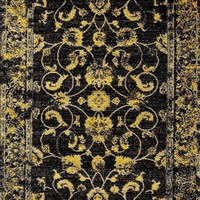 3545 Gold Distressed Oriental Area Rugs