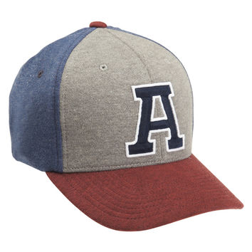 "Aeropostale  Mens Signature ""A"" Knit Flexfit Hat - Blue"