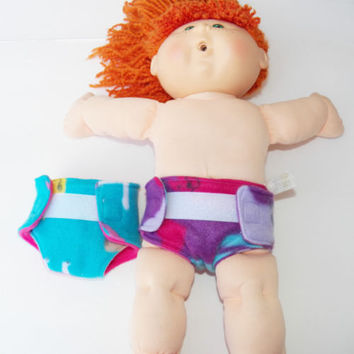 "baby doll, HANDMADE CLOTHES, fits the 16"" Cabbage Patch Kids Girl Doll, diapers"
