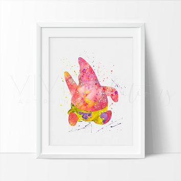 Patrick Star Watercolor Art Print