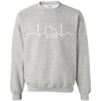 Heart Beat Bulldog Sweatshirt