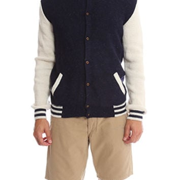 Monsieur Lacenaire Knitted Varsity Jacket