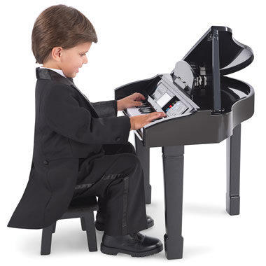 The Learn To Play Baby Grand Piano - Hammacher Schlemmer