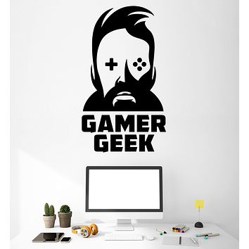 Wall Vinyl Decal Gamer Geek Playroom  GameZone Home Interior Decor Unique Gift z4726
