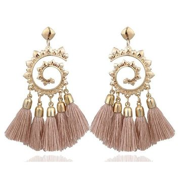 Fashion Bohemian Ethnic Big Long Tassel Earrings Fashion Jewelry Drop Earrings