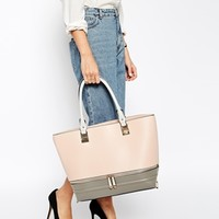 New Look Colour Block Tote Bag