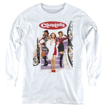 Clueless Kids Long Sleeve Shirt Movie Poster White Tee
