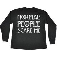 123t Men's NORMAL PEOPLE SCARE ME LONG SLEEVE T SHIRT